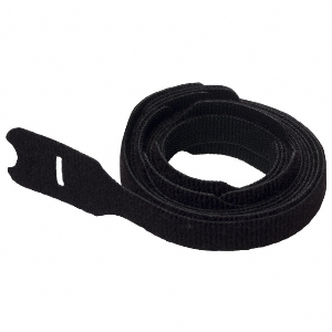 cable-tie-hook-loop-1-2-inch-wide-40lb-tensile-8-inch-strip-black-with-slot-for-pre-wrapping-of-bundles