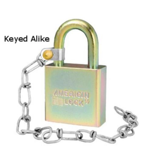 "american-lock-a5200glwnka-government-padlock-with-9""-chain-keyed-alike"