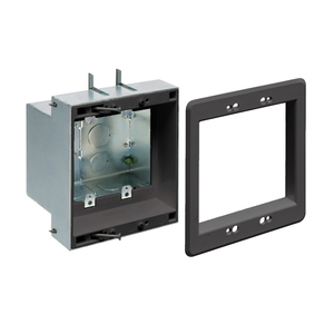 arlington-tvbs505bl-black-2-gang-recessed-outlet-wall-plate-kit