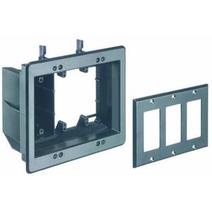 arlington-tvbu507bl-tv-box-3-gang-recessed-outlet-wall-plate-kit