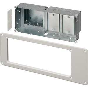 arlington-tvbs613bl-recessed-steel-tv-box-4-gang-wall-plate-kit
