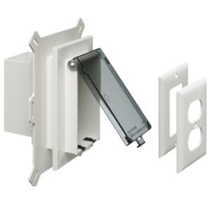 arlington-dbvs1c-clear-low-profile-weatherproof-electrical-box