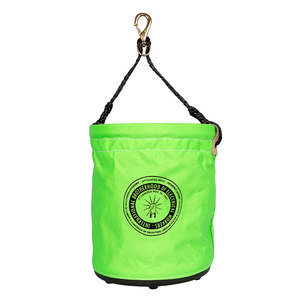 buckingham-1215q21-large-safety-green-canvas-bucket-with-ibew-logo