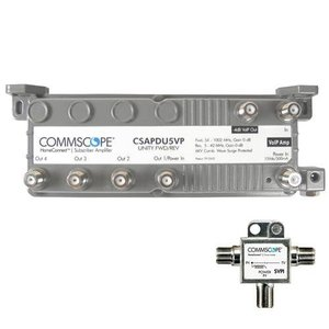commscope-csapdu5vpi-passive-voip-5-way-amplifier-with-power-inserter