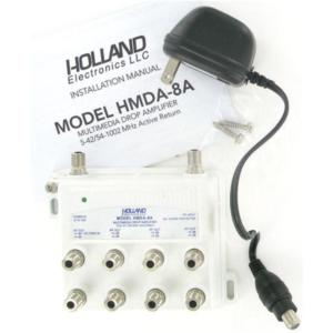 holland-hmda8a-multimedia-catv-8-way-drop-amplifier-with-active-return