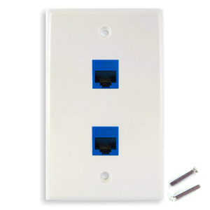 white-keystone-wall-plate-with-2-blue-cat6-jacks