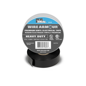 Ideal 46-88 Black 8.5 Mil Wire Armour Heavy-Duty Vinyl Professional Electrical Tape
