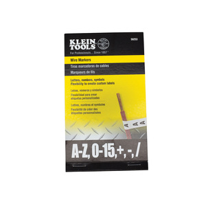 klein-tools-56253-wire-marker-book-with-black-letters-numbers-and-symbols
