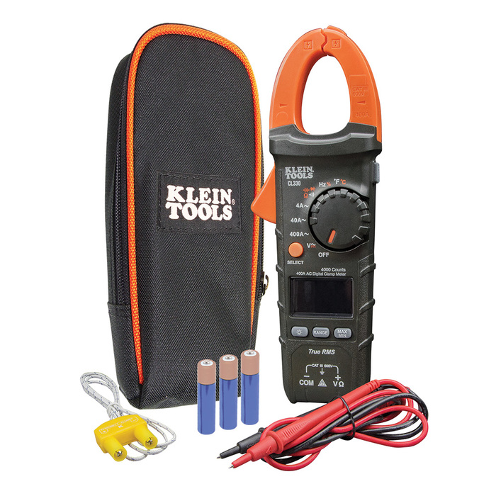 Klein Tools Cl330 400a Ac Auto Ranging Digital Clamp Meter