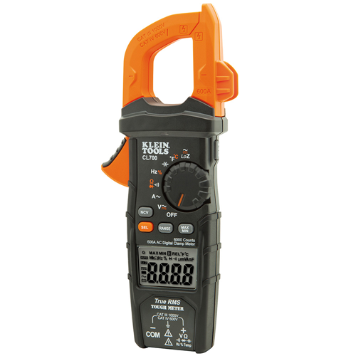 Klein Tools CL700 Digital Clamp Meter, AC Auto-Ranging, 600A