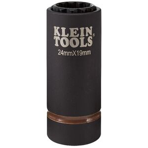 klein-tools-66052e-2-in-1-12-point-24mm-x-19mm-metric-impact-socket
