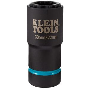 klein-tools-66053e-2-in-1-12-point-30mm-x-22mm-metric-impact-socket