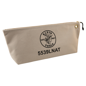 klein-tools-5539lnat-large-natural-canvas-bag-with-zipper