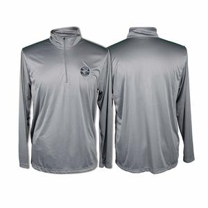 klein-tools-gray-quarter-zip-pullover-with-lineman-logo