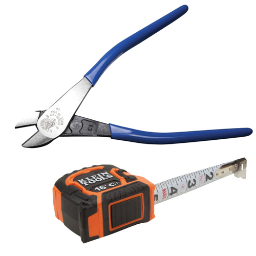 klein-tools-d200049-9-diagonal-cutting-pliers-with-free-86216-16-double-hook-magnetic-tape-measure