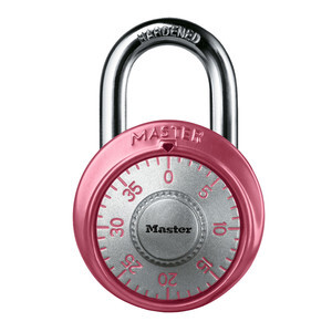 master-lock-1530dpnk-pink-combination-dial-padlock-with-aluminum-cover