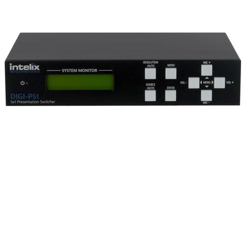 3204bb08e23d Intelix DIGI-P51 Presentation Switcher/Scaler - 5 Input x 1 Output -  Refurbished