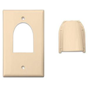 vanco-120613x-ivory-custom-two-piece-bulk-cable-wall-plate