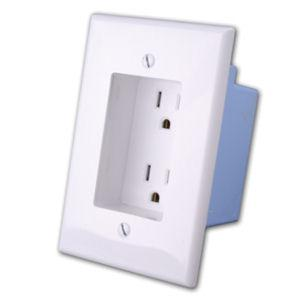 vanco-168924wh-rapid-link-power-recessed-ac-duplex-outlet-wall-plate-white