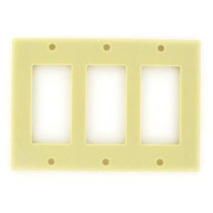 vanco-820503-ivory-three-gang-wall-plate